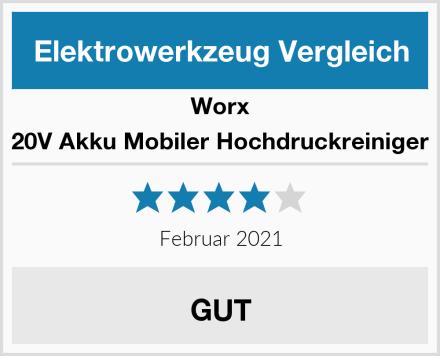 Worx 20V Akku Mobiler Hochdruckreiniger Test