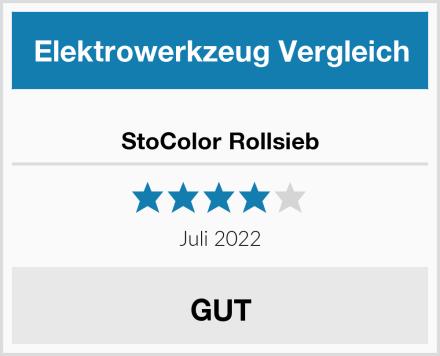 StoColor Rollsieb Test