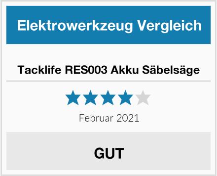 Tacklife RES003 Akku Säbelsäge Test