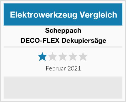 Scheppach DECO-FLEX Dekupiersäge Test
