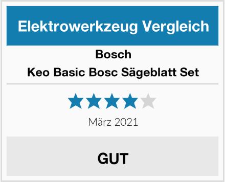 Bosch Keo Basic Bosc Sägeblatt Set Test