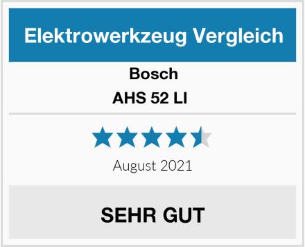 Bosch AHS 52 LI  Test