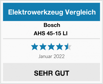 Bosch AHS 45-15 LI  Test