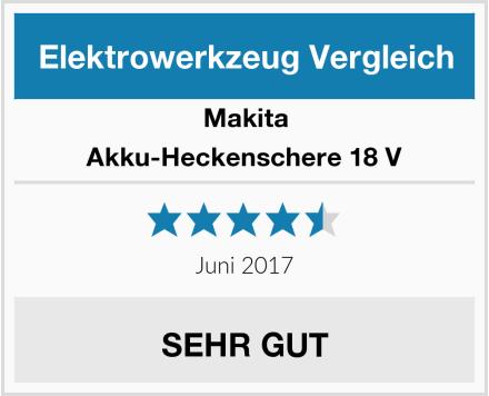 Makita Akku-Heckenschere 18 V Test