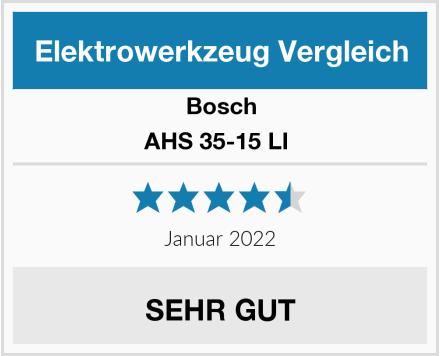 Bosch AHS 35-15 LI  Test