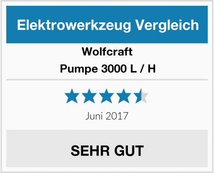 Wolfcraft Pumpe 3000 L / H Test