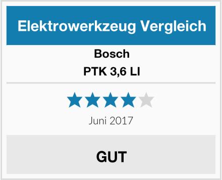 Bosch PTK 3,6 LI Test