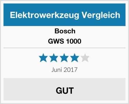 Bosch GWS 1000 Test