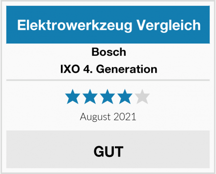 Bosch IXO 4. Generation Test