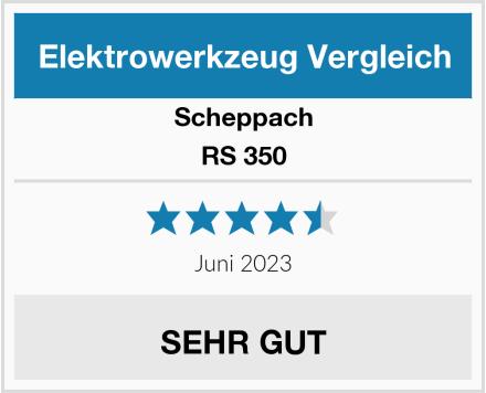 Scheppach RS 350 Test