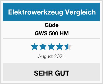 Güde GWS 500 HM Test