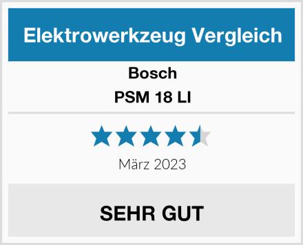 Bosch PSM 18 LI Test
