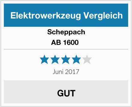 Scheppach AB 1600  Test