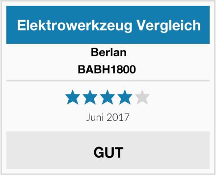 Berlan BABH1800  Test