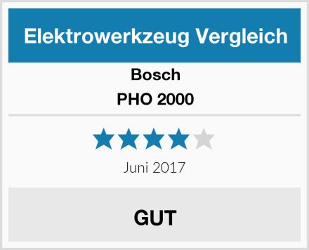 Bosch PHO 2000 Test