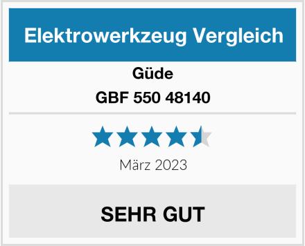 Güde GBF 550 48140 Test