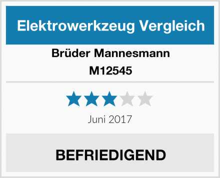 Brüder Mannesmann M12545 Test
