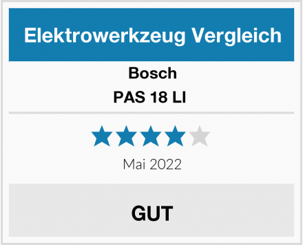Bosch PAS 18 LI  Test