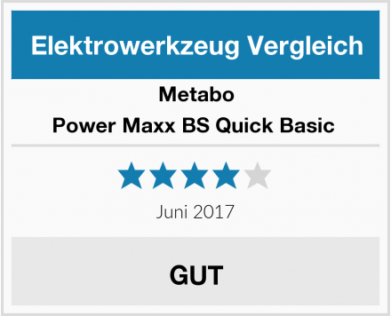 Metabo Power Maxx BS Quick Basic  Test