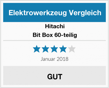 Hitachi Bit Box 60-teilig Test