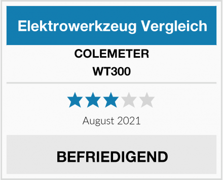 COLEMETER WT300 Test