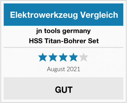 jn tools germany HSS Titan-Bohrer Set Test