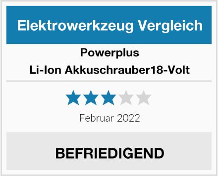 PowerPlus Li-Ion Akkuschrauber18-Volt Test