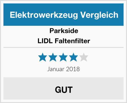 Parkside LIDL Faltenfilter Test