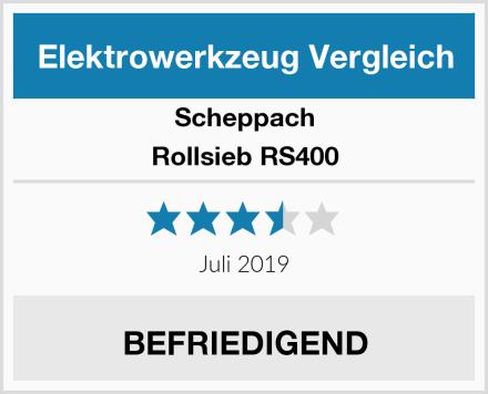 Scheppach Rollsieb RS400 Test
