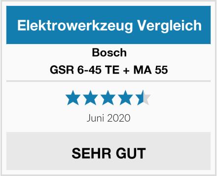 Bosch GSR 6-45 TE + MA 55 Test