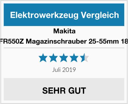 Makita DFR550Z Magazinschrauber 25-55mm 18 V Test