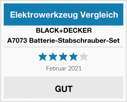 Black & Decker A7073 Batterie-Stabschrauber-Set Test
