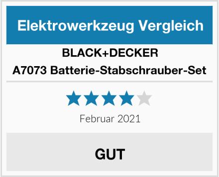BLACK+DECKER A7073 Batterie-Stabschrauber-Set Test