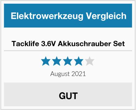 Tacklife 3.6V Akkuschrauber Set Test