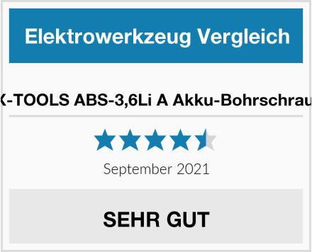 LUX-TOOLS ABS-3,6Li A Akku-Bohrschrauber Test