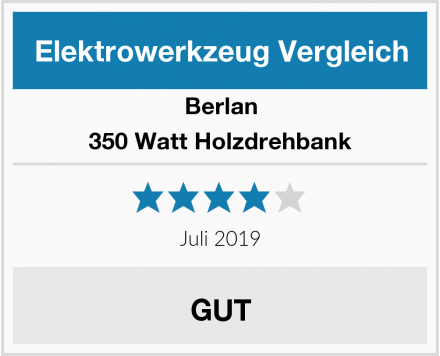 Berlan 350 Watt Holzdrehbank Test
