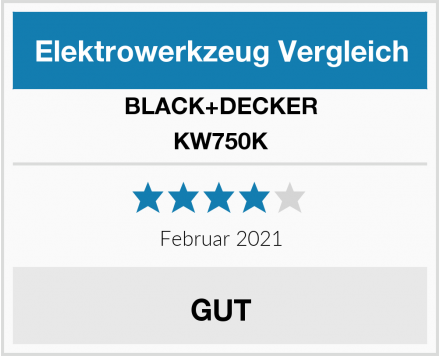 Black & Decker KW750K Test