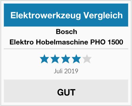 Bosch Elektro Hobelmaschine PHO 1500 Test