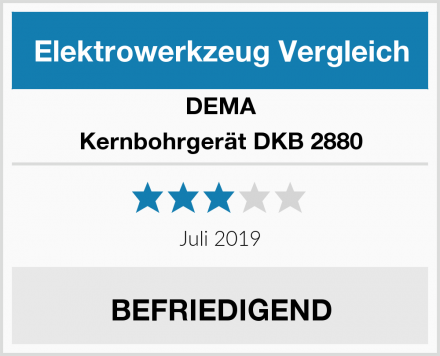 DEMA Kernbohrgerät DKB 2880 Test