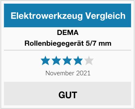 DEMA Rollenbiegegerät 5/7 mm Test