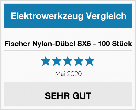 No Name Fischer Nylon-Dübel SX6 - 100 Stück Test