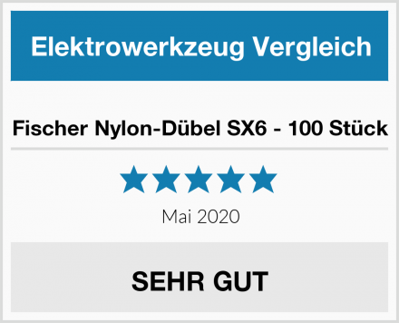 Fischer Nylon-Dübel SX6 - 100 Stück Test