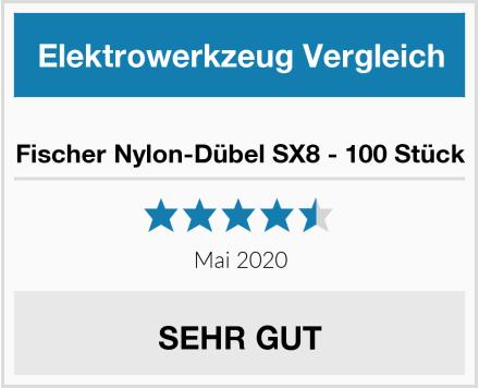 Fischer Nylon-Dübel SX8 - 100 Stück Test
