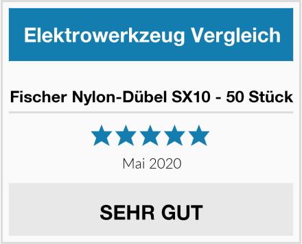 Fischer Nylon-Dübel SX10 - 50 Stück Test