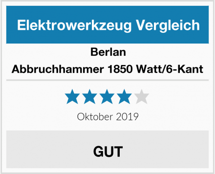 Berlan Abbruchhammer 1850 Watt/6-Kant Test