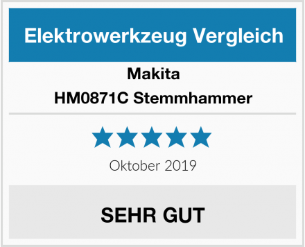 Makita HM0871C Stemmhammer Test