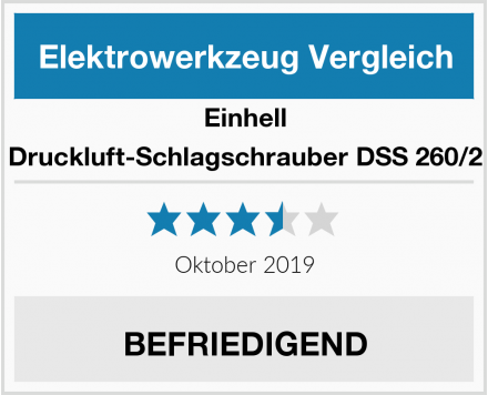 Einhell Druckluft-Schlagschrauber DSS 260/2 Test