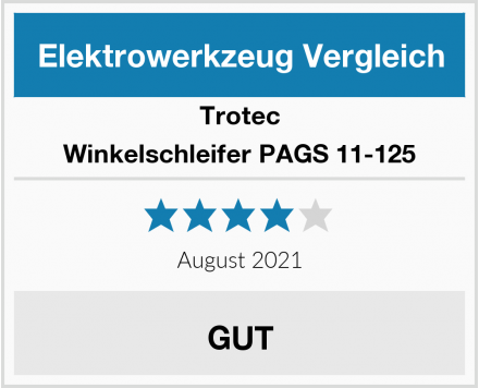 Trotec Winkelschleifer PAGS 11-125 Test
