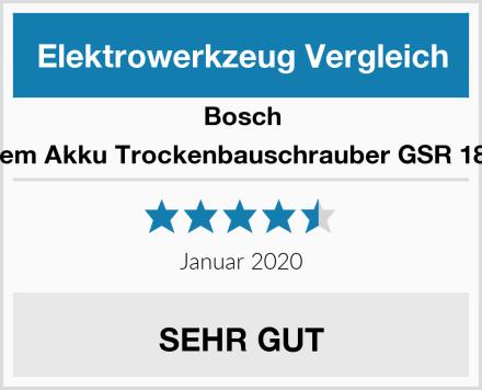 Bosch 18V System Akku Trockenbauschrauber GSR 18V-EC TE Test