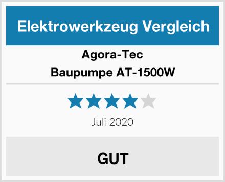 Agora-Tec Baupumpe AT-1500W Test